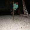 Swinging on a stick !