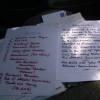 Had to be handwritten !