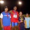 A man among boys !   Rabangaki won the Discus.