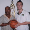 Ryan Burns with Kosrae State Sports Administrator Maker Palsis