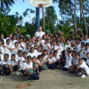 SDA Elementary Students withe Coach Burns after their clinic