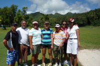 Team Samoa with Local Caddies