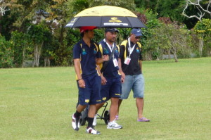 Team Niue keeping cool