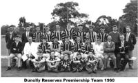 1960 Reserves Premiership Team