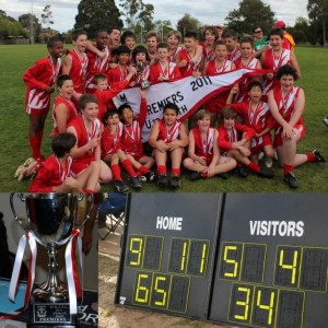 Collage Photo of NJFC U13 Premiership