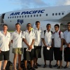 Fiji Triathlon Team at the Tongan Airport
