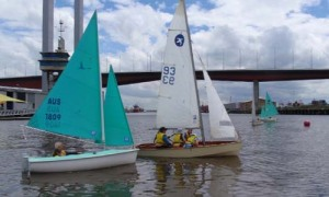GISBS level 2 students first sail in a Pacer with the DYC Access fleet