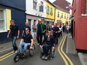 Neil Paterson (R) at the IFDS World Championships in Kinsale