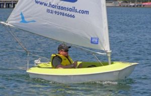 Allan Byrne (LSC) enjoyed his first race at Docklands