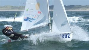 Mathew Belcher and Malcolm Page on the water in Holland