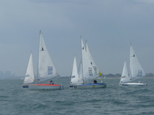 Tight racing at the close of race 2