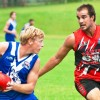 Sawtell/Toormina's Daniel Johnson had an oustanding game on the wing in the season opener against North Coffs, kicking five goals. Photo: Rob Wright/Coffs Coast Advocate