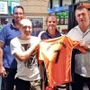 Coffs Hotel publican Marty Phillips (right) has happily extended the pub's sponsorship of the AFL North Coast umpires. Umpires such as Dan Perry, Scott Stacey and Scott Bellamy are thrilled with the announcement.
