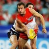Two time premiership player with the Sydney Swans, Jude Bolton, in action. Photo: Slattery Media
