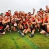 Sawtell/Toormina celebrates its premiership win oover the Coffs Swans: Photo: Leigh Jensen/Coffs Coast Advocate