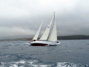 Quest of Bermuda under full sail