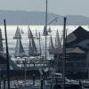 AHIRW2015 fleet finishing off Hamilton Is Yacht Club - Photo Credit: Andrea Francolini