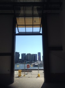 Automated door almost open