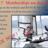 2016 MEMBERSHIP RENEWALS DUE NOW