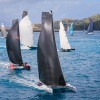 Taking off: With Hamilton Island's airport in the background, some of the more than 30 multihulls at Audi Hamilton Island Race Week 2015 head away from the start and towards the spectacular Whitsunday Passage. (Image credit: Craig Greenhill, Saltwater Ima