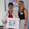 Jill Golland (QLYC) receiving WGIS Local Hero Award 2015-16 Yachting Victoria Awards Presentation