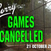 softball games cancelled